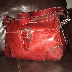 Etienne Aigner Red Leather Handbag EUC BEAUTIFUL